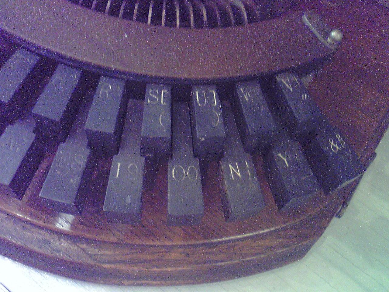菊武学園の「Hammond No.1」(remodeled)のキーボード右端