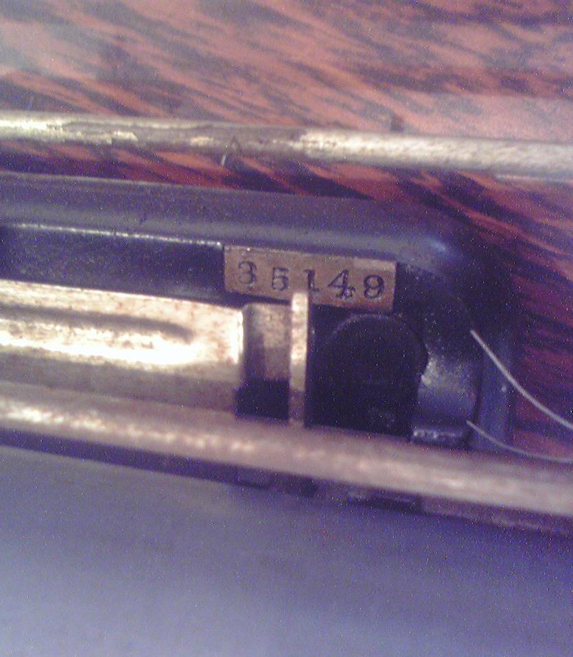 菊武学園の「Blickensderfer No.5」の製造番号