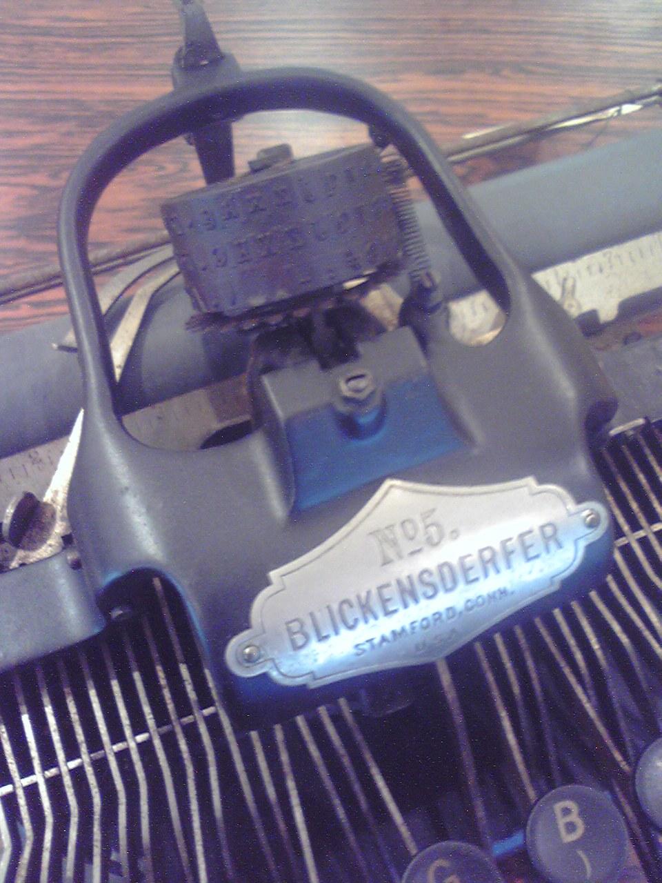 菊武学園の「Blickensderfer No.5」のタイプ・ホイール