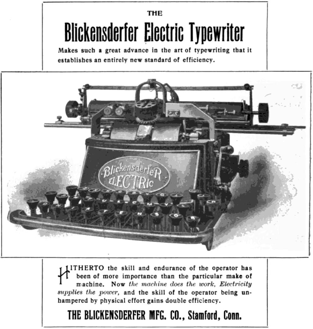 『Typewriter and Phonographic World』1902年1月号