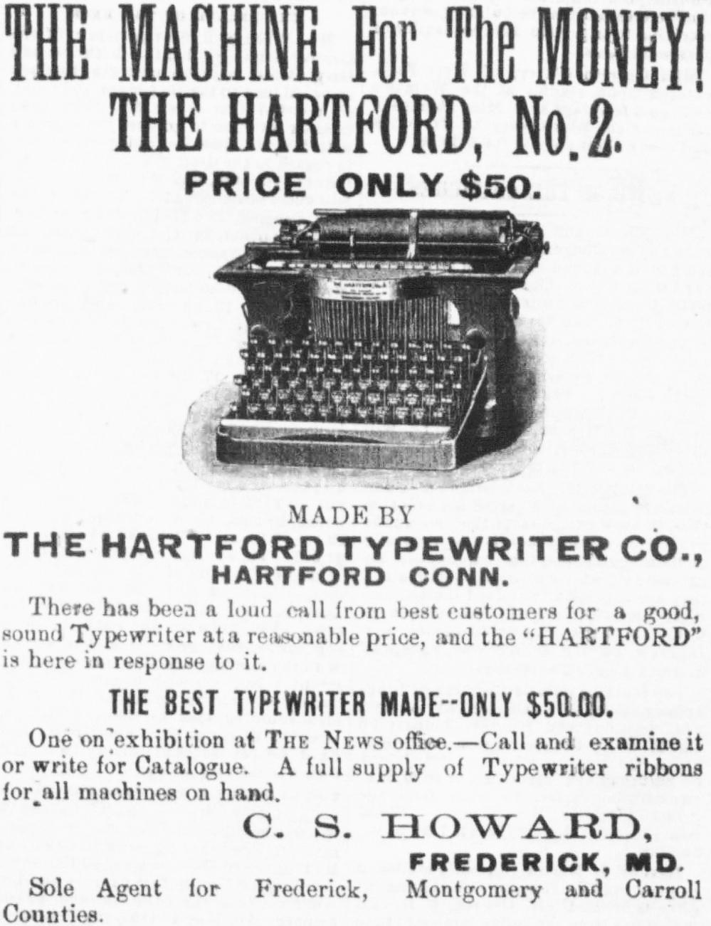 『Frederick News』1897年1月29日号
